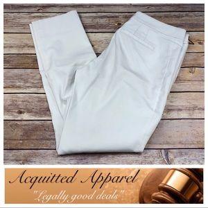 [Tory Burch] White Side Slit Crop Pants